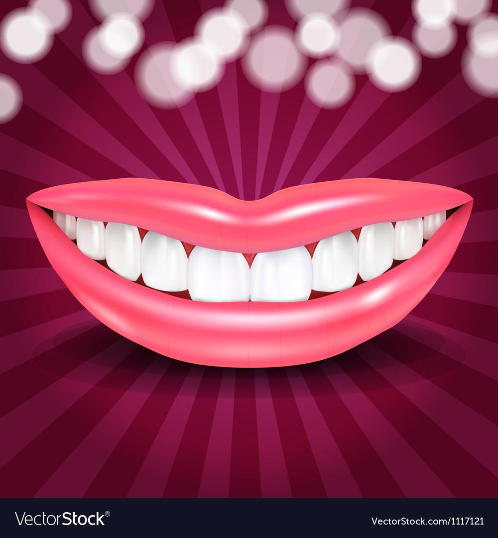 Disco Lips vector image