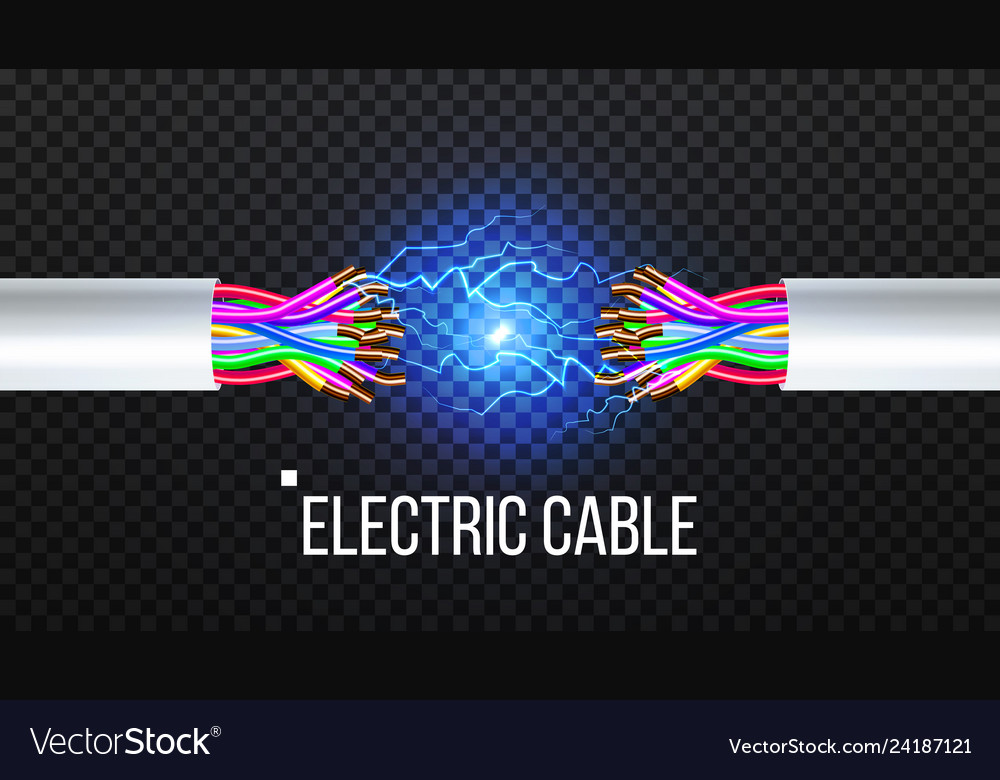 Disconnect electric cable copper wire