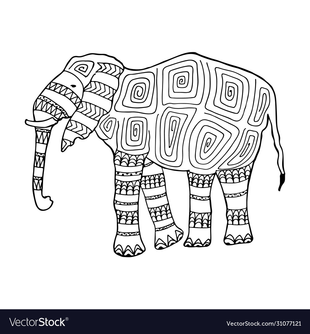 Free Free Printable Coloring Page Of Elephant, Download Free Clip ... | 1080x1000
