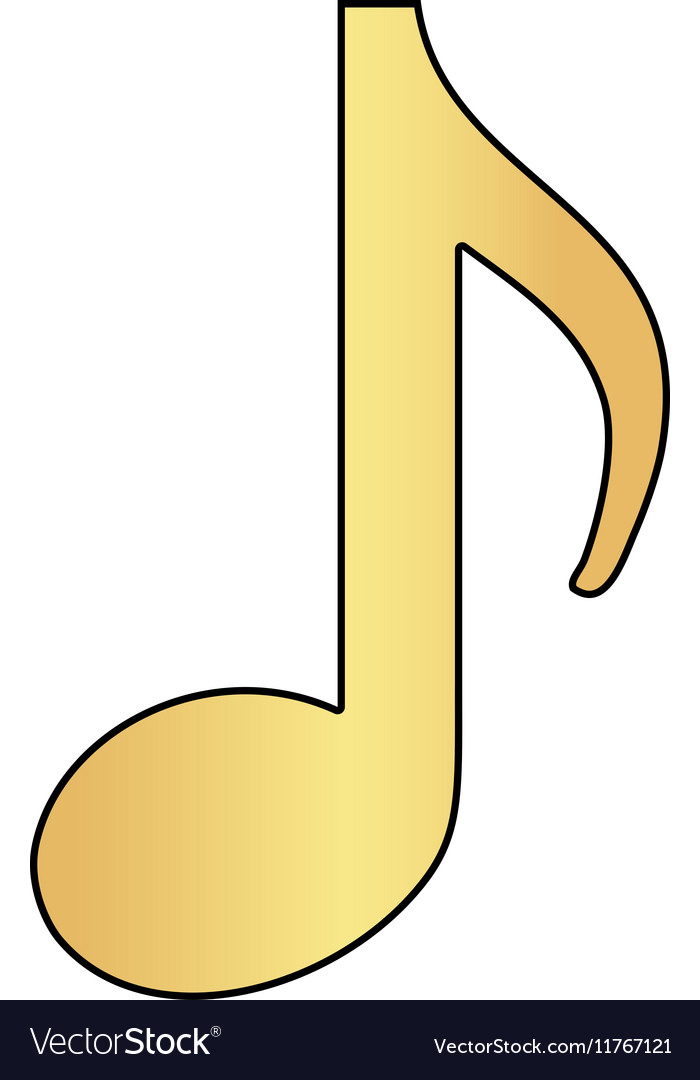 Music note computer symbol vector image