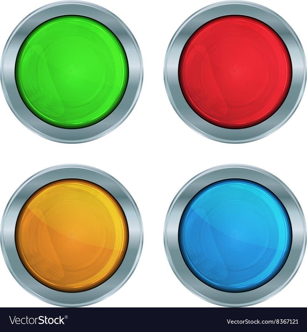 Set of colorful glossy green lampshades krasnog