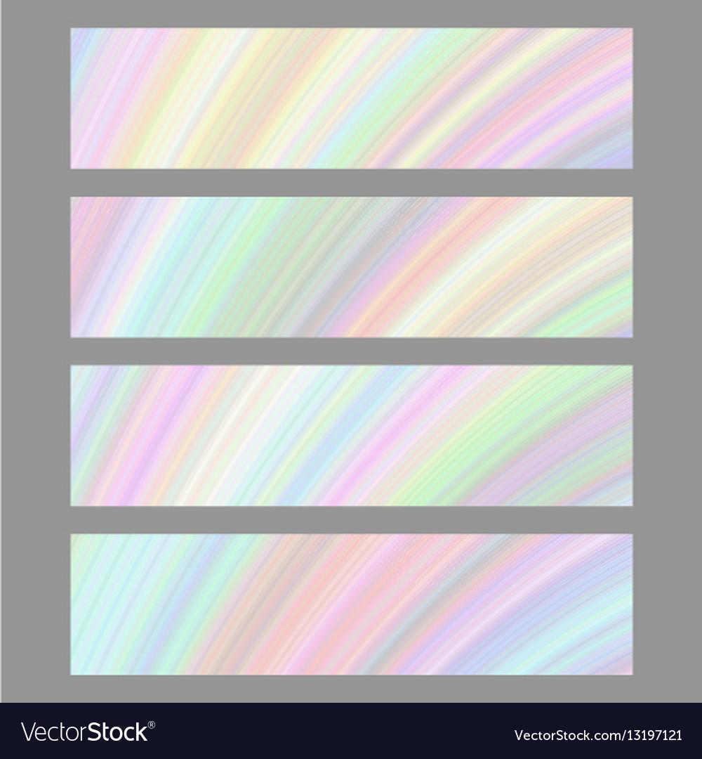 Set of digital art banner backgrounds