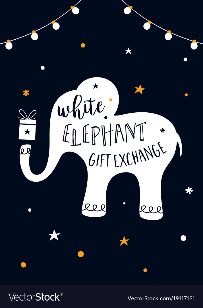 White elephant gift exchange game vector image