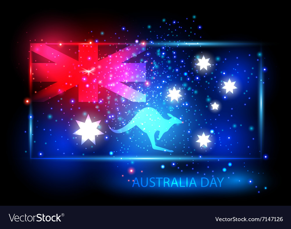 Australia day card design vector image