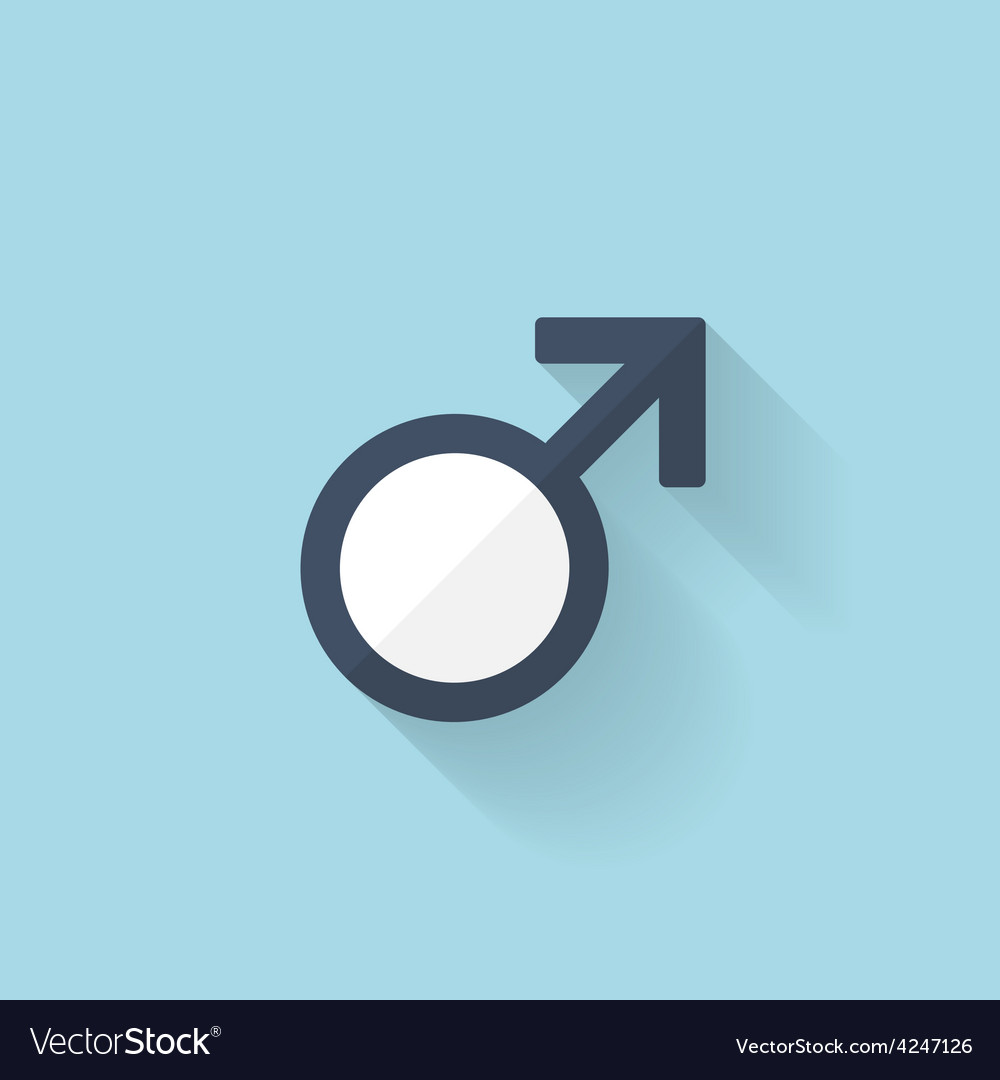Flat web internet icon Male symbol