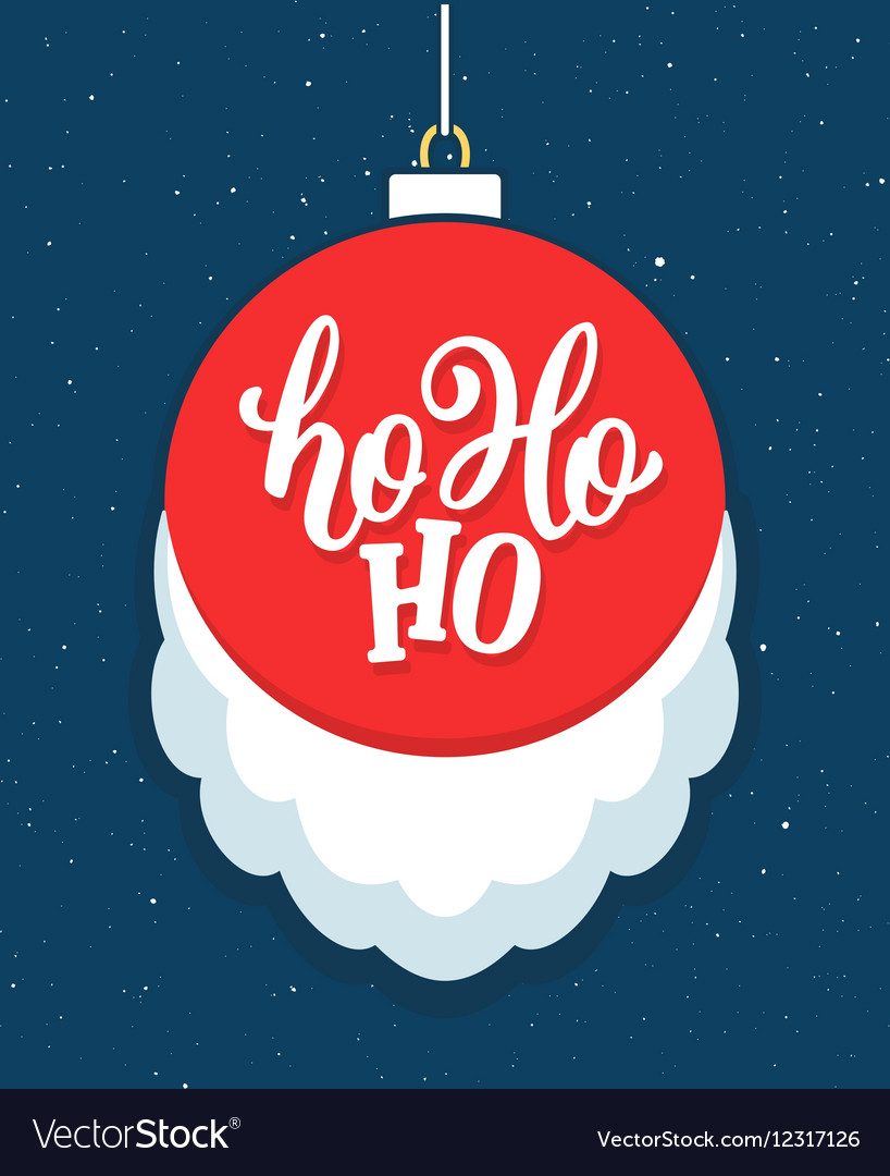Ho Ho Ho Christmas greeting card