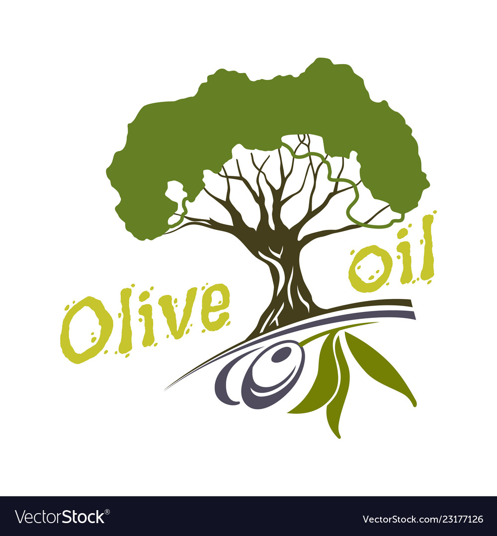 Olive oil bottle and product label templates