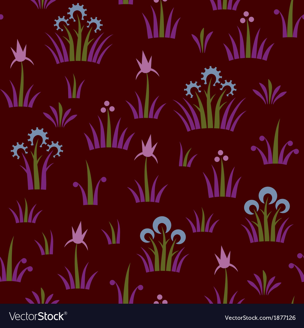 Seamless floral retro pattern of classic style
