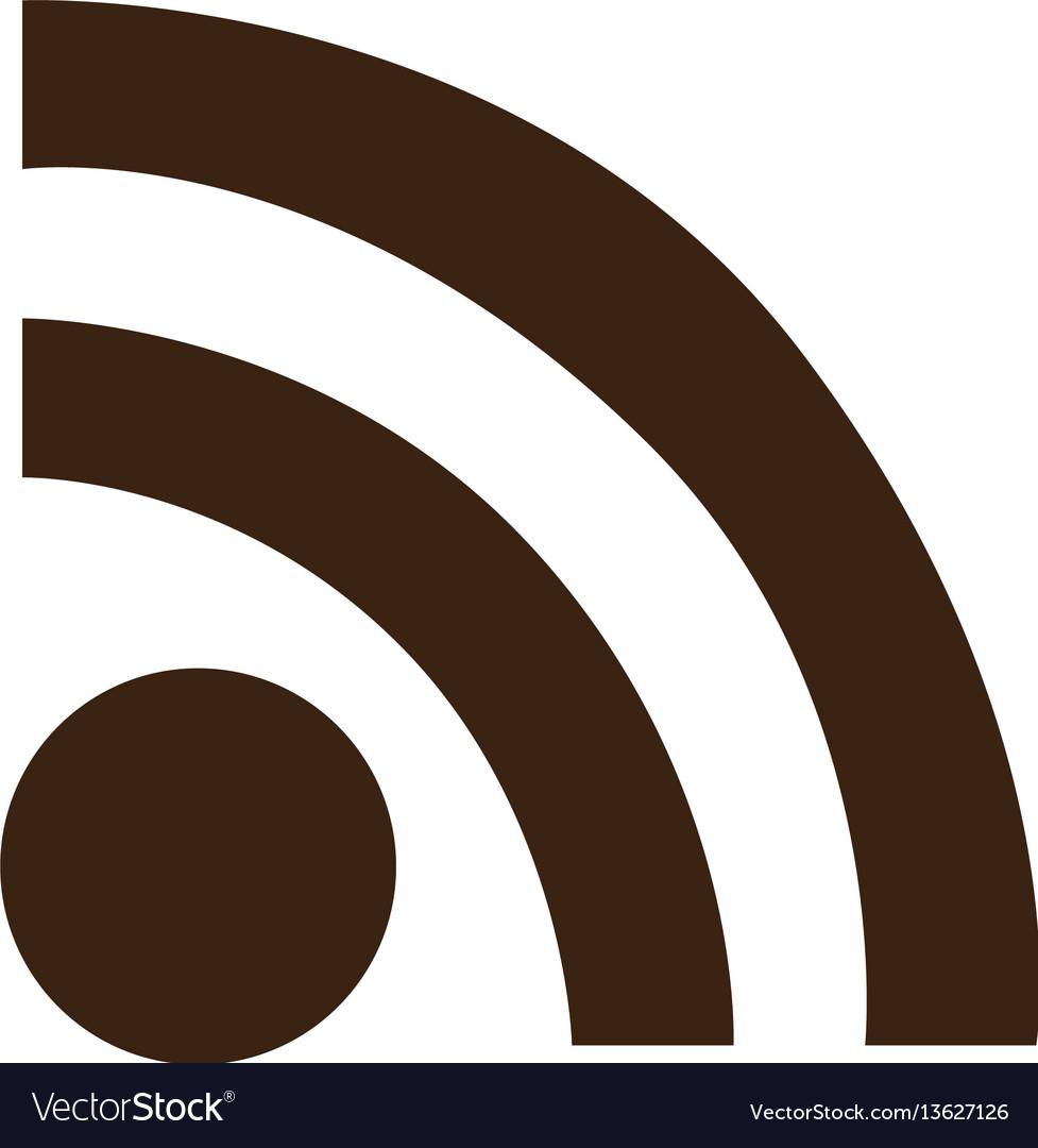 Silhouette wifi signal icon flat