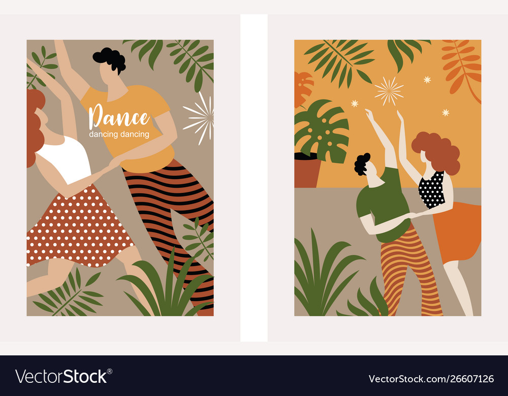 Vertical banners with dancing couple
