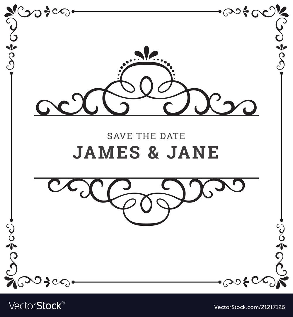 Wedding card frame border