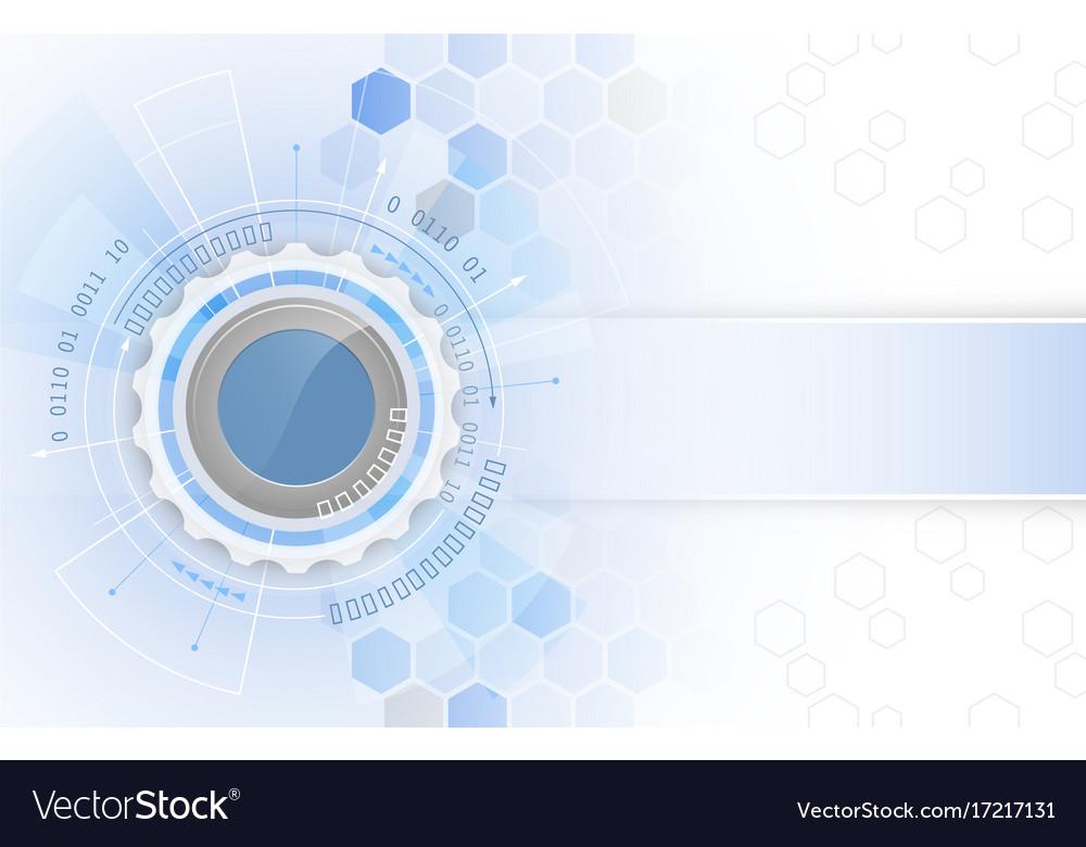Abstract technology gear wheel futuristic