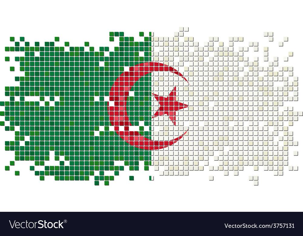 Algerian grunge tile flag