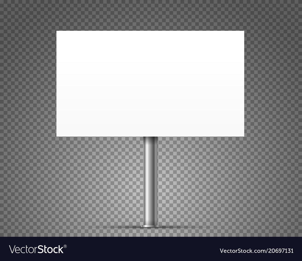 Blank urban advertising banner mockup isolated on