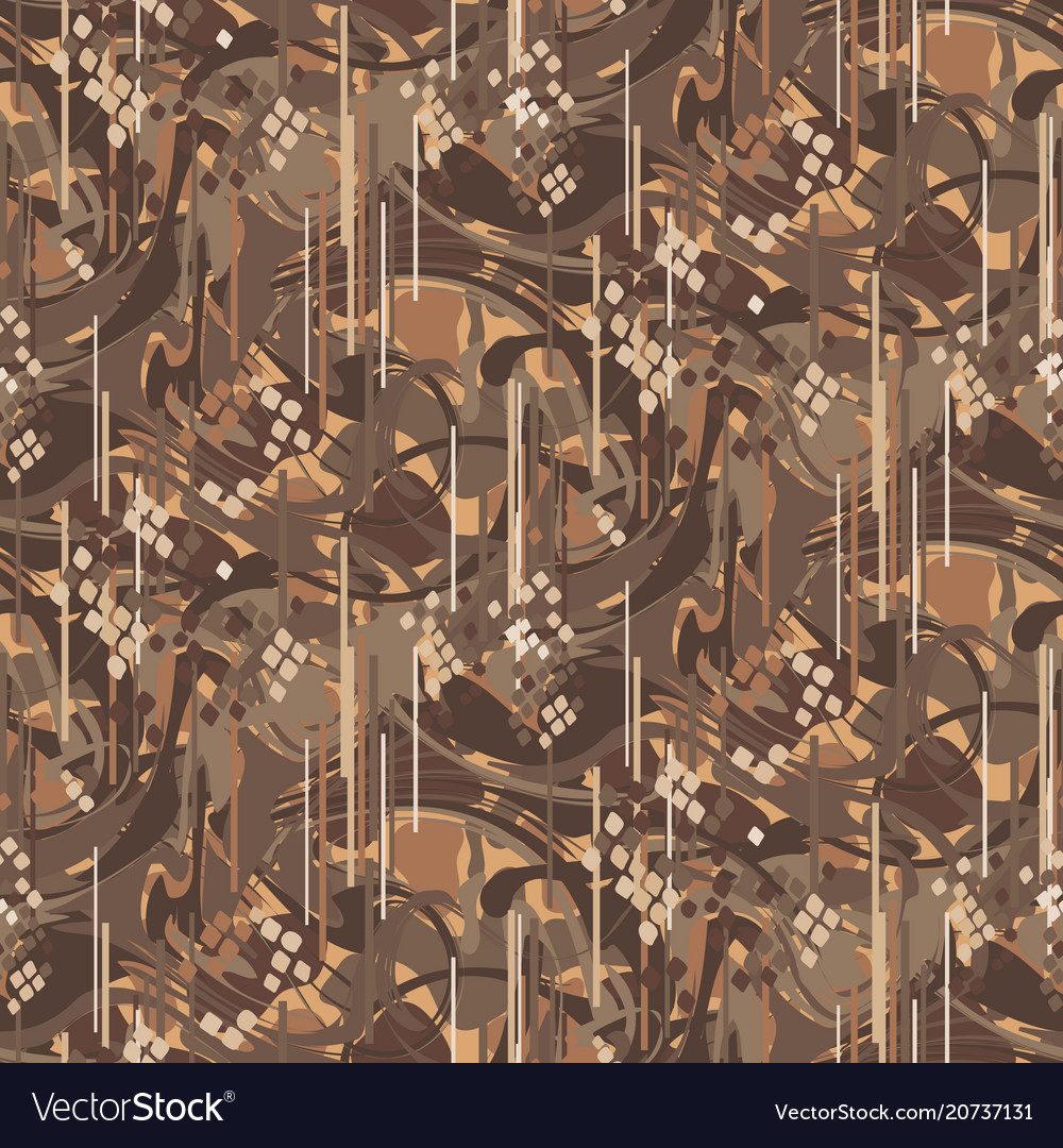Camouflage marbled strokes seamless pattern