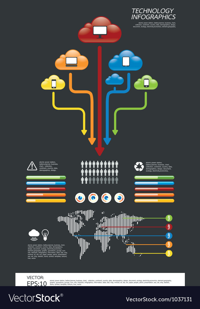Infographic technology computer vector image