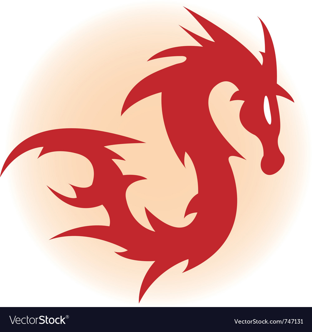 red dragon royalty free vector image vectorstock rh vectorstock com vector dragon ball vector dragon ball super