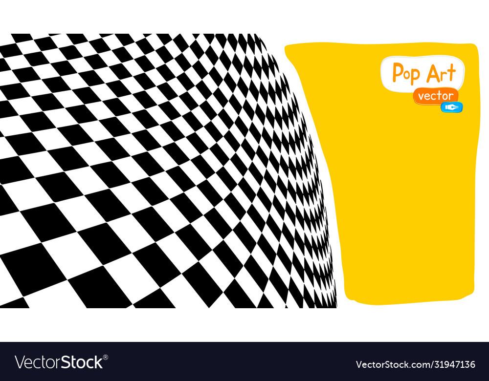 Abstract op art yellow orange