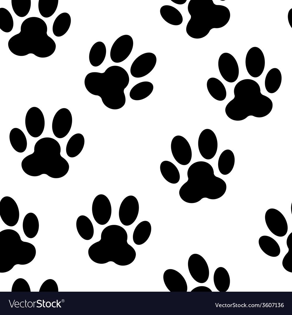 Animal Paw Seamless Pattern Background