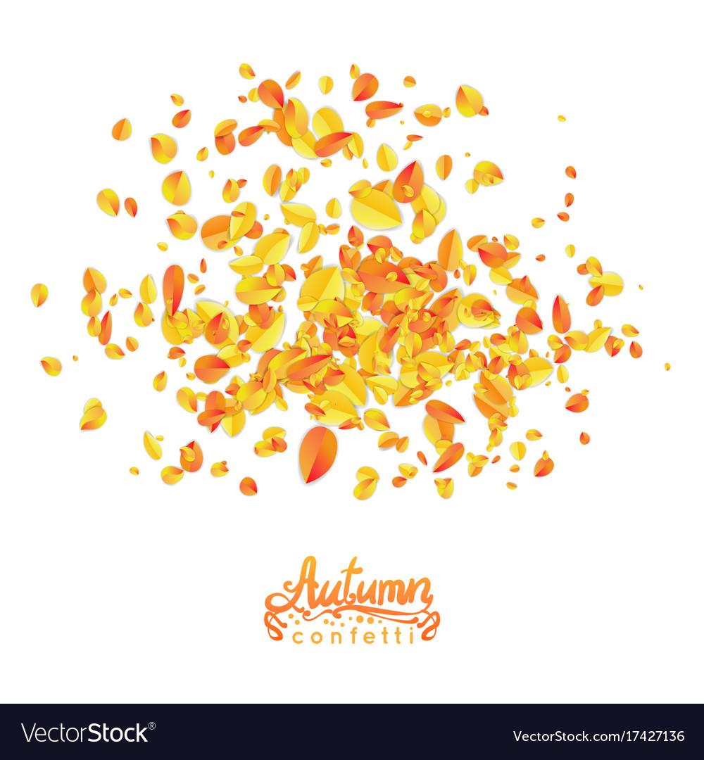 Autumn leaves particles