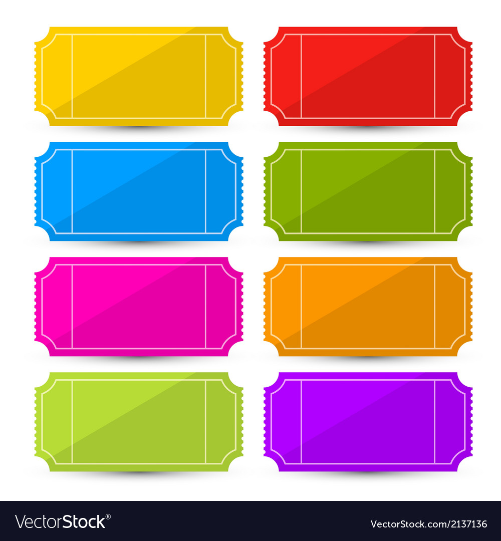 Colorful Ticket Set