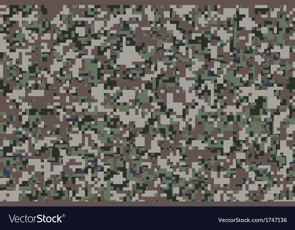 Digital Camouflage Royalty Free Vector Image Vectorstock