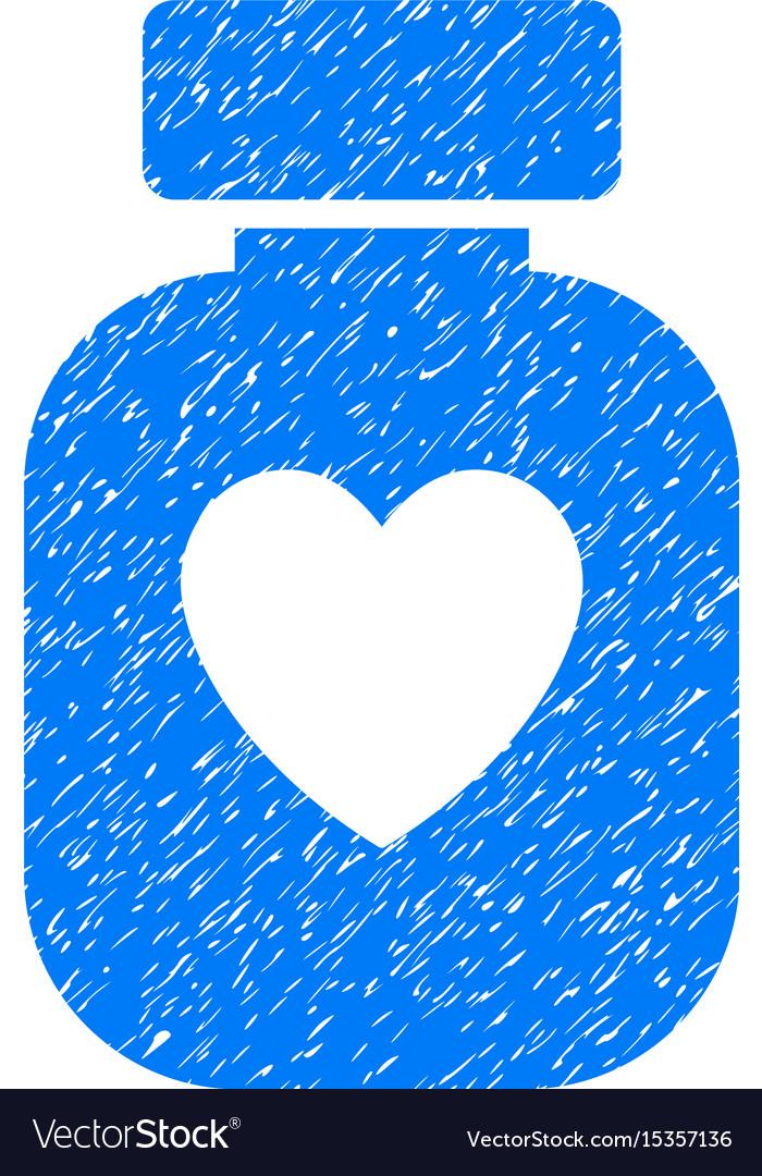 Favorite medication grunge icon vector image