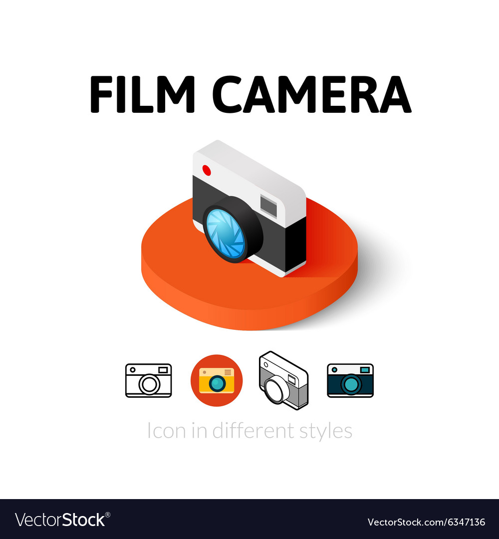 Film camera icon in different style