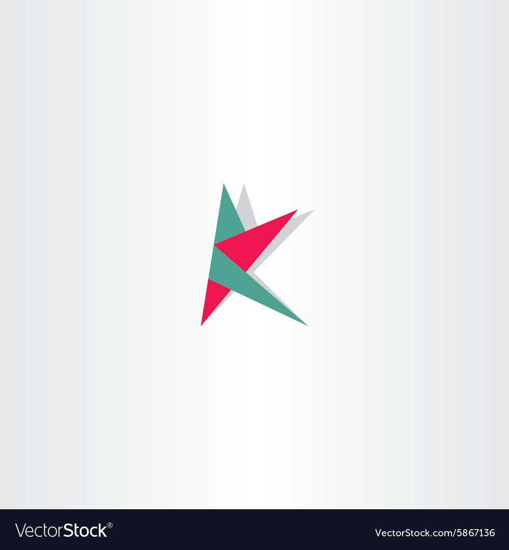Letter k sign logotype polygon logo vector image