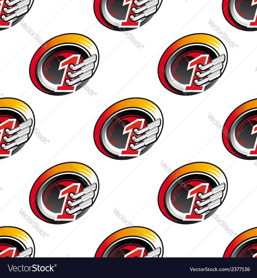 Racing sports seamless pattern vector image