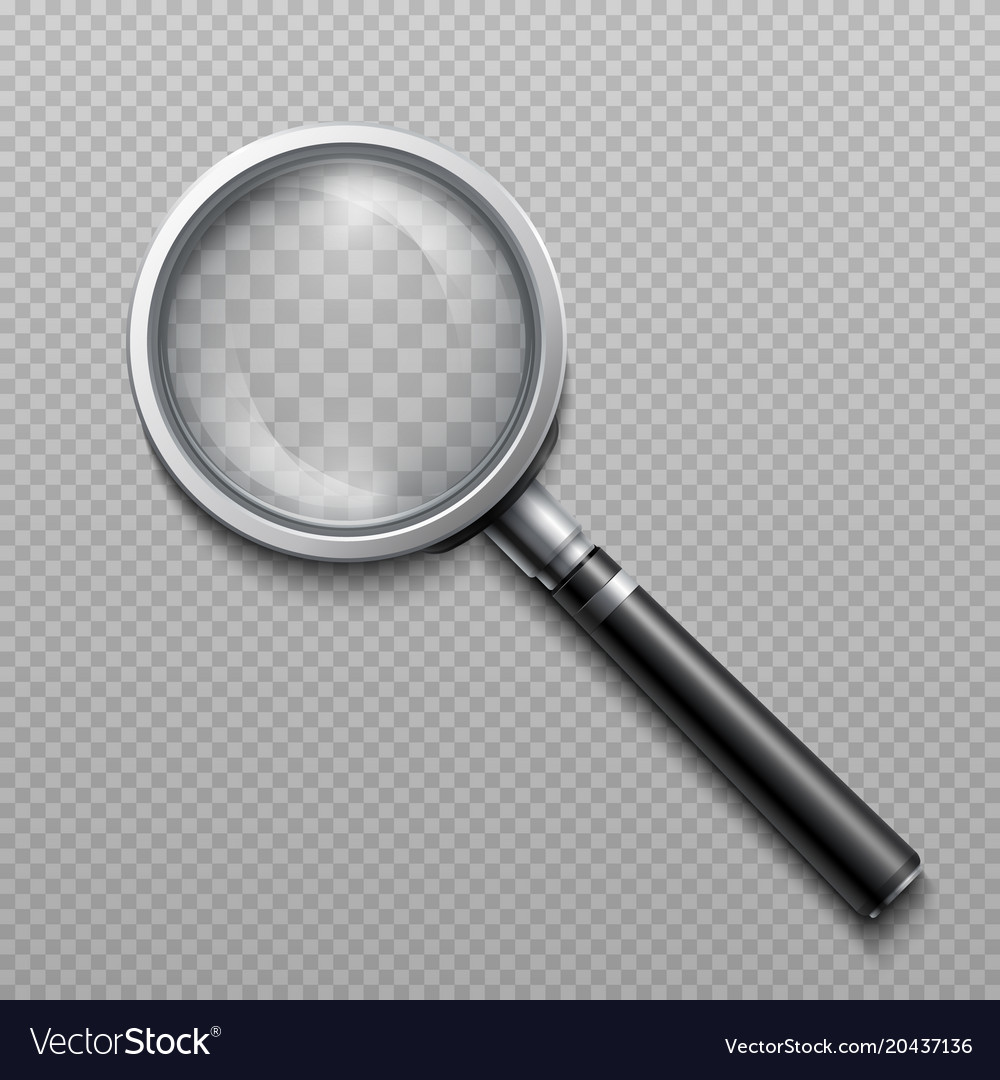 Realistic loupe magnifying glass
