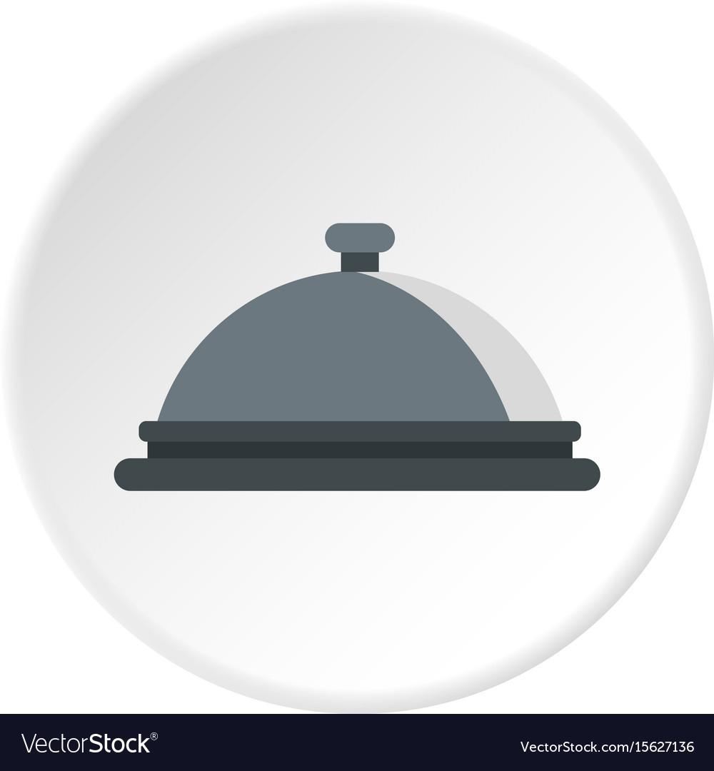 Restaurant cloche icon circle