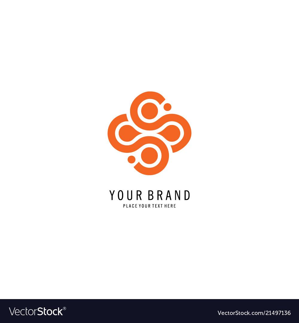 Round letter s logo