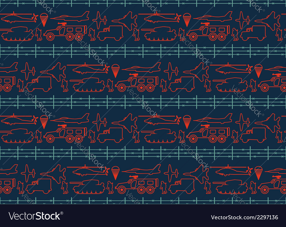 Seamless military pattern 12 vector image