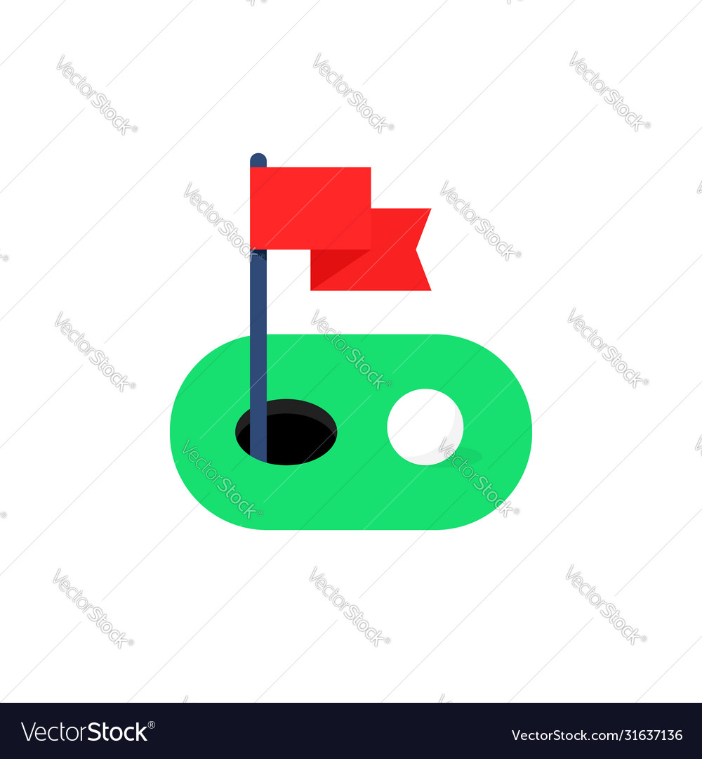 Simple green golf course icon