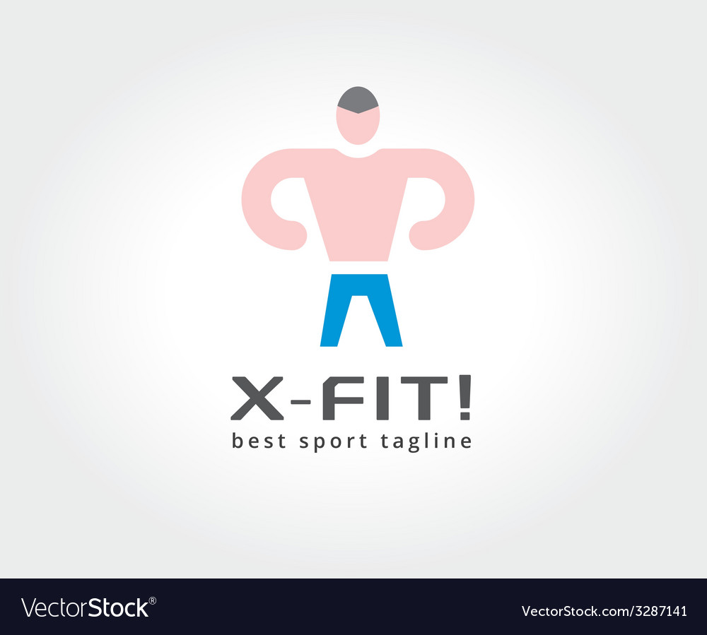 Abstract fitness man logo icon concept Logotype