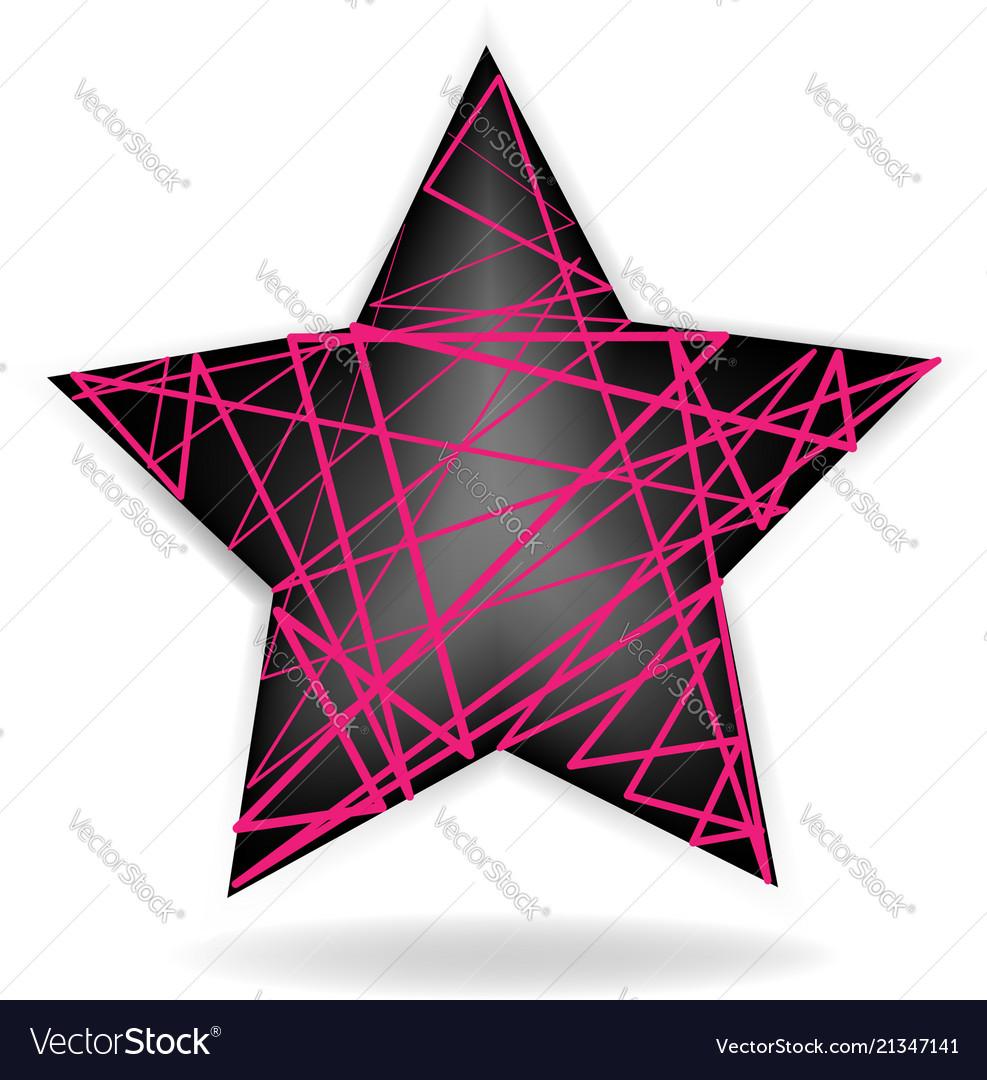 Abstract star shape logo