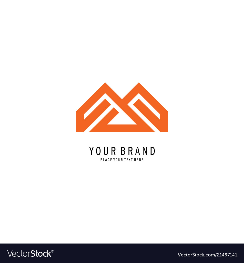 Abstract triangle home logo