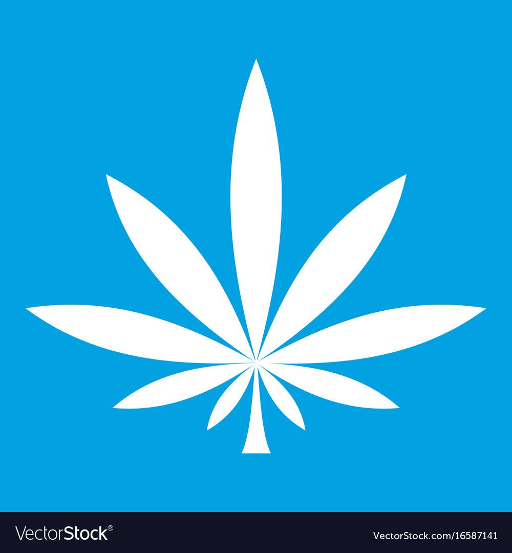 Cannabis leaf icon white
