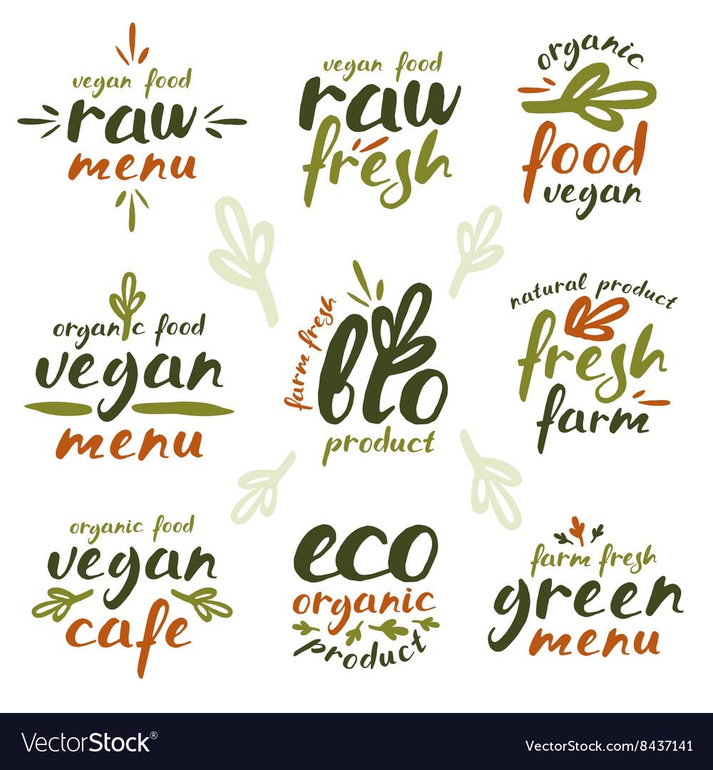 Raw vegan labels and badges