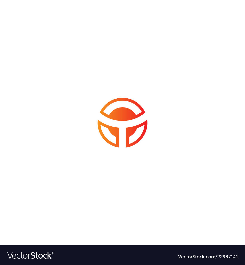 Round initial business logo