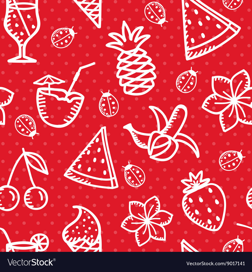 Summer simless background vector image