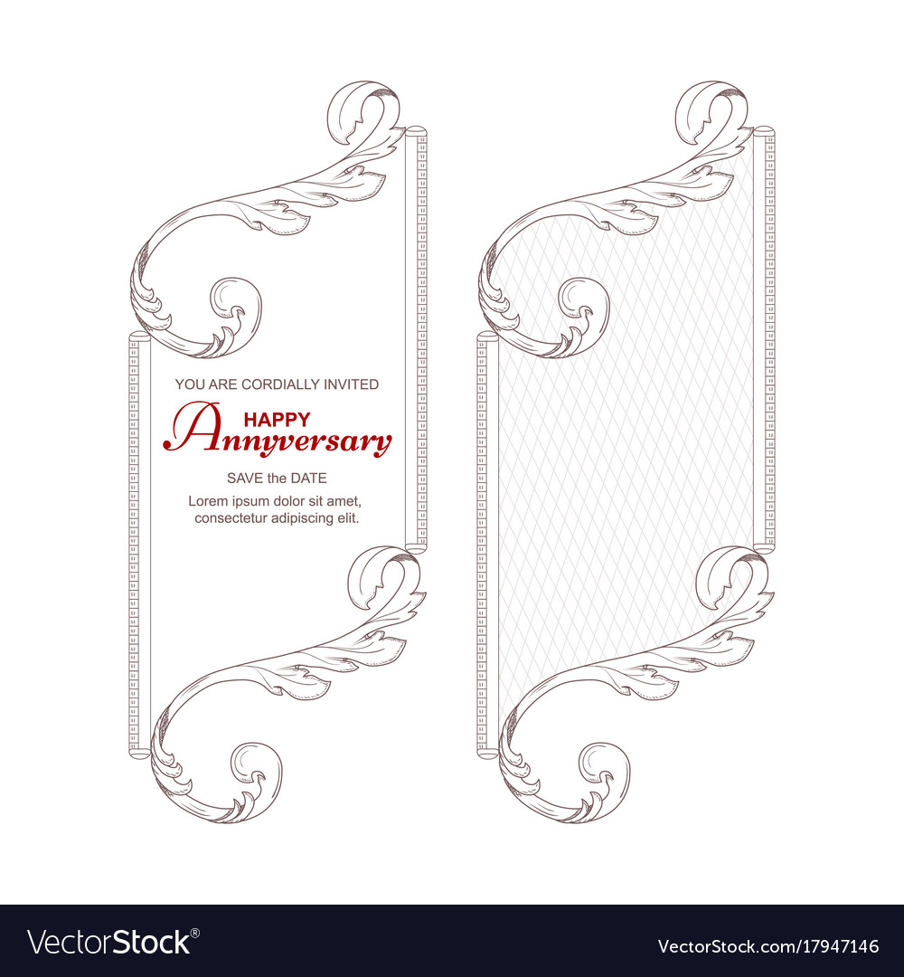 A set of two vertical frames in victorian style