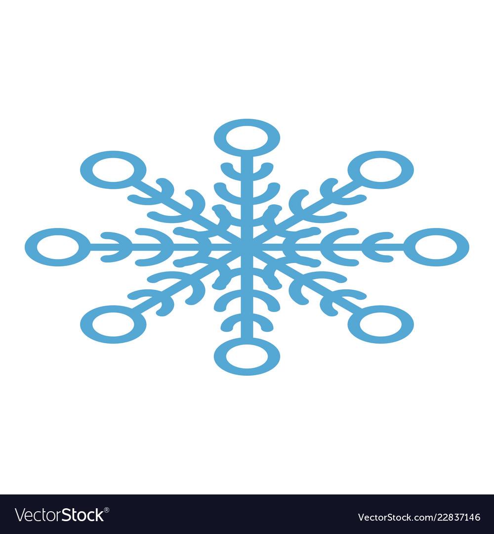 Abstract snowflake icon isometric style