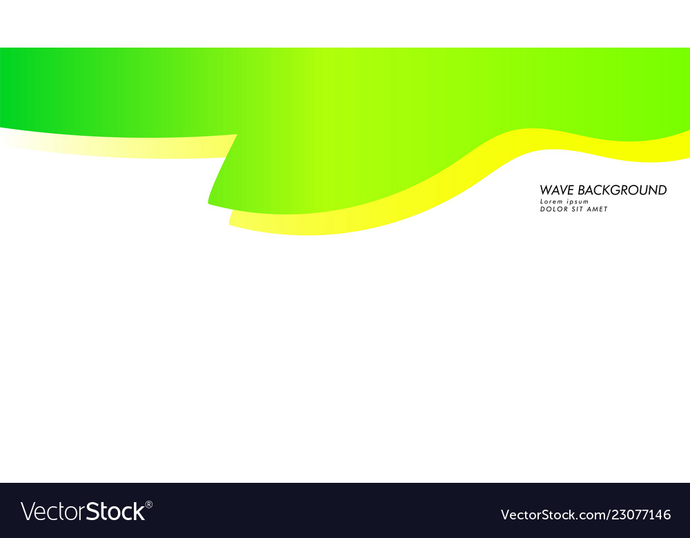 Abstract wave background with green color and