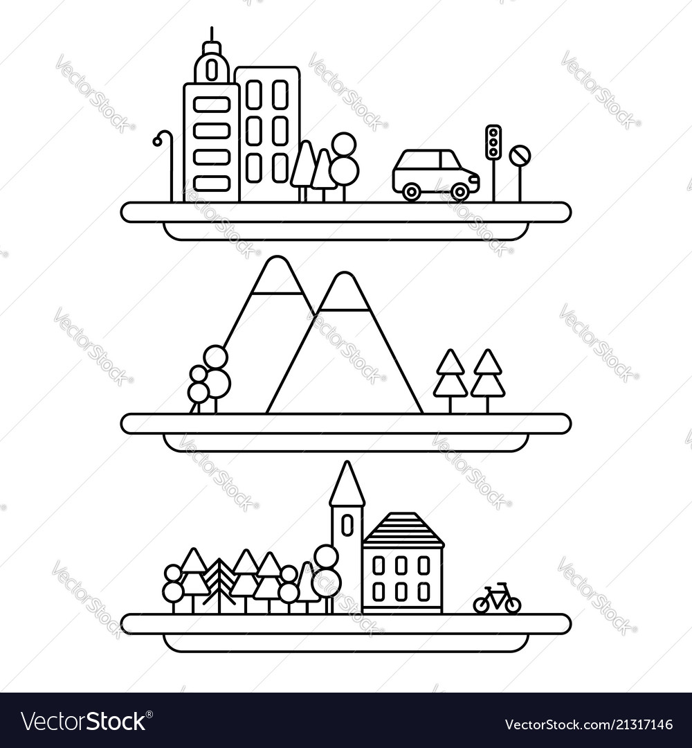 Collection of linear city