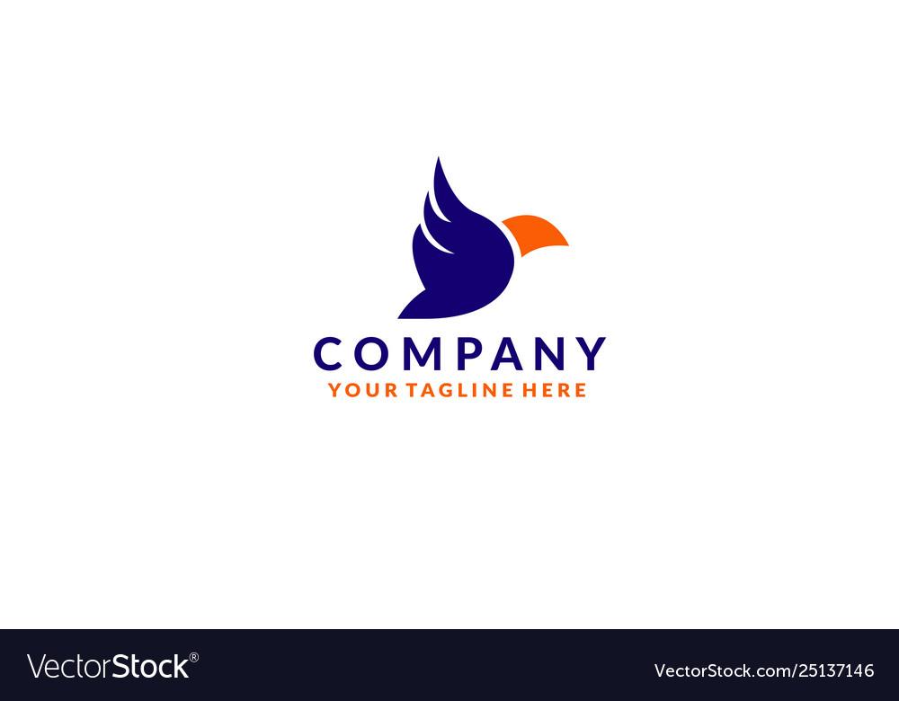 Colorful bird abstract logo design vector image