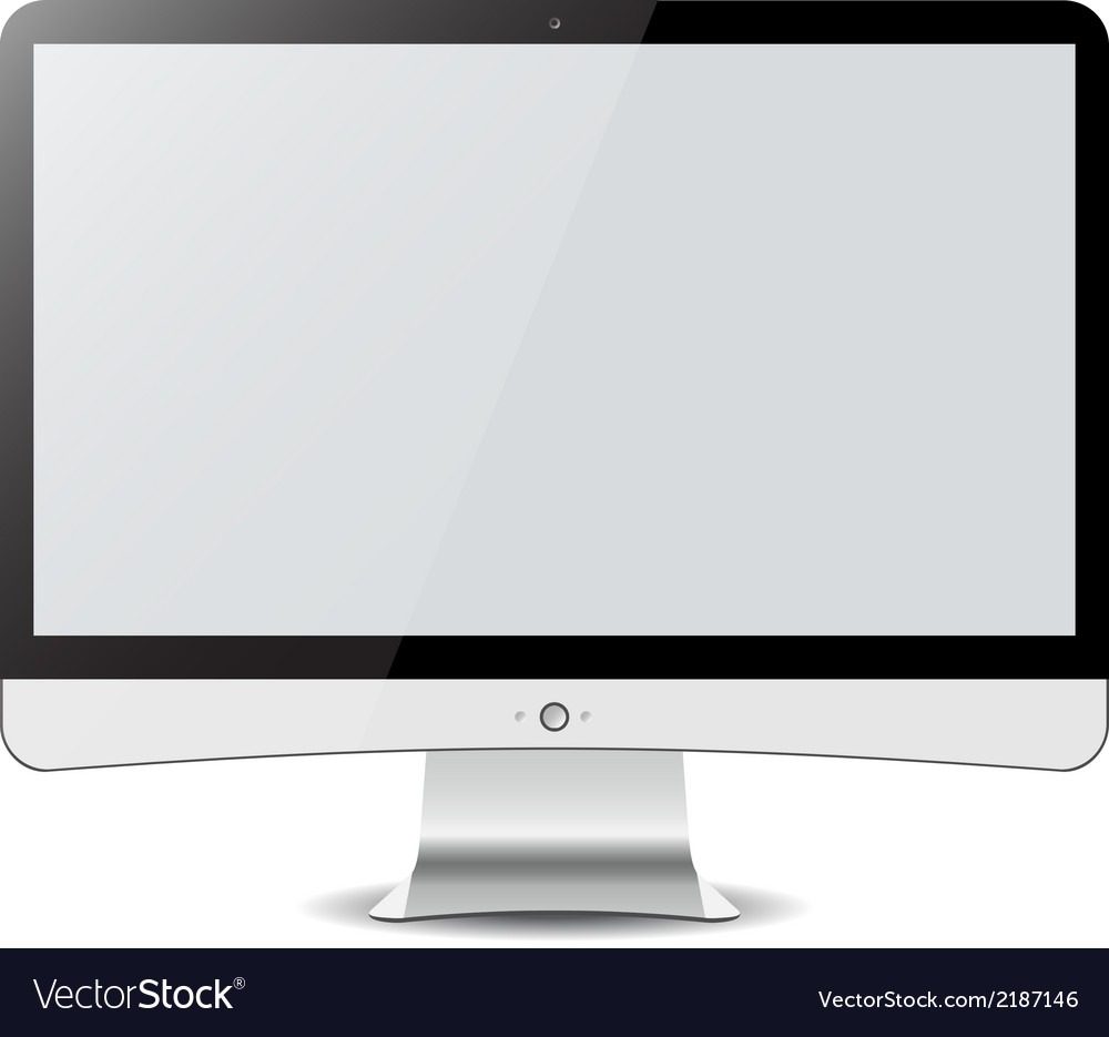 Computer display isolated on white in imac style