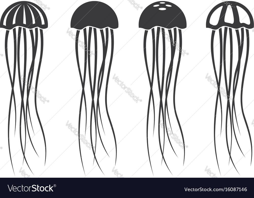 Jellyfish icon set