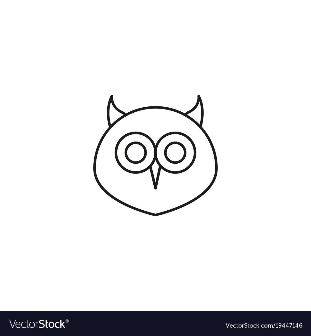Owl outline icon